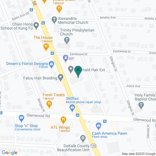 Map of Decatur, Georgia